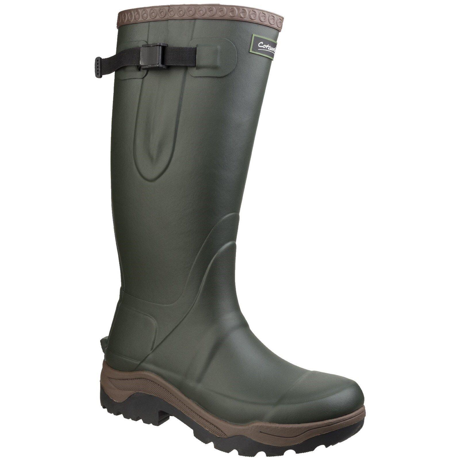 Cotswold BUSSOLA Plain Premium Gomma Antiscivolo Stivali di gomma unisex