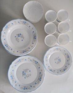 VTG-30-PC-SET-Arcopal-ROMANTIQUE-6-dinner-6-salad-plates-6-Bowls-6-Cups-6-Saucer
