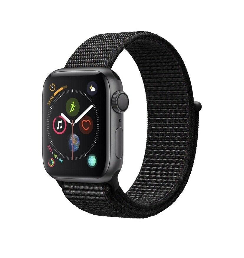 Suelto Seguro Capilares  Apple Watch Series 4 Nike+ 44 mm Space Gray Aluminum Case with Black Nike  Sport Loop (GPS + Cellular) - (MTXD2LL/A) for sale online | eBay
