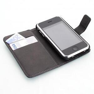 Apple-iPhone-3G-3GS-Housse-pour-wallet-devise-noir-protection-d-039-ecran