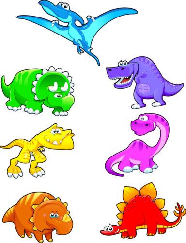 Pegatinas Kit Niño Tabla 7 Pegatinas Dinosaurios Ref 3572 7 Dimensiones