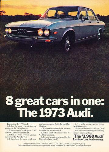 1973 Audi 100LS 3960 Classic Vintage Advertisement PE55