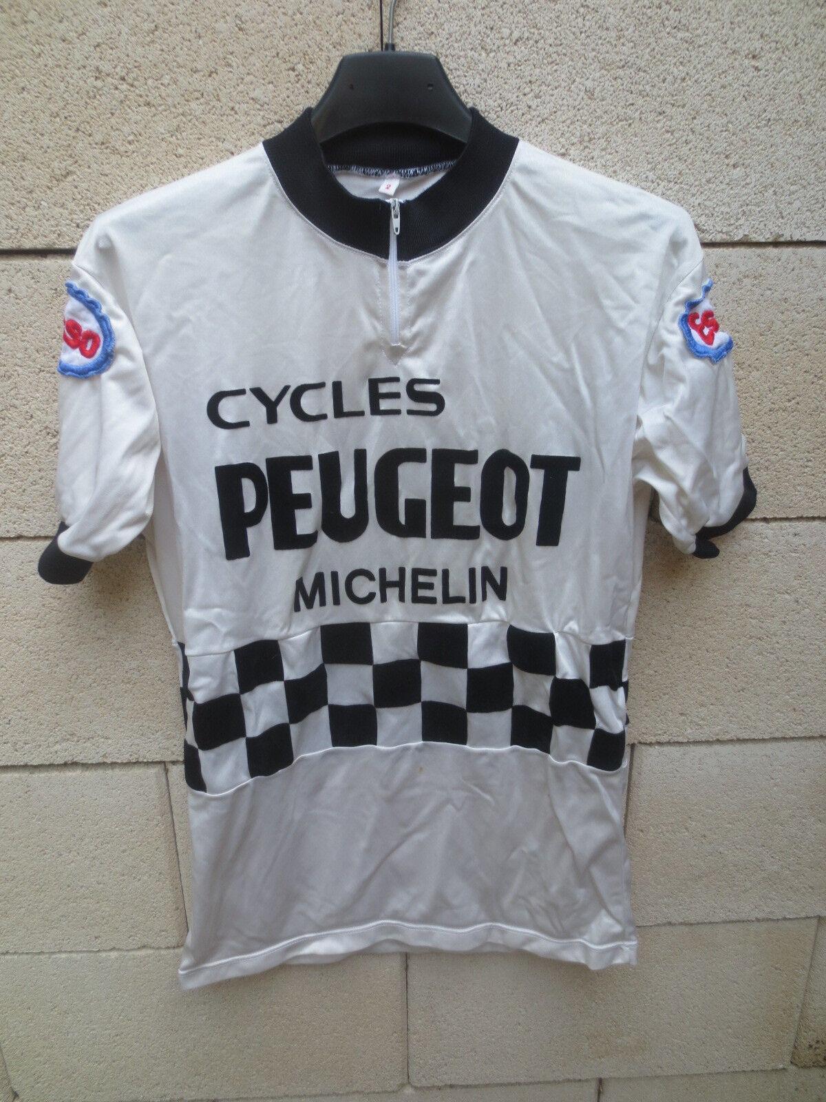 Maillot cycliste PEUGEOT MICHELIN ESSO Tour de France shirt trikot vintage 2
