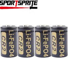 4pcs Soshine CR2 /15266 3.0V 400mAh Protected Rechargeable LiFePo4 Batteries