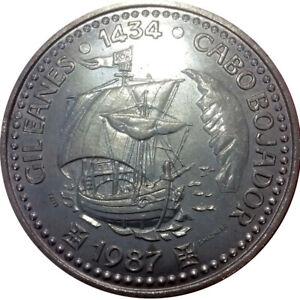 100 Escudos Gil Eanes 1987 - Portuguese Discoveries  - 1 st Serie - KM#639