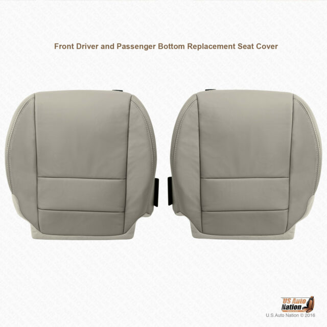 Driver & Passenger Bottoms Leather Seat Cover GRAY Fits