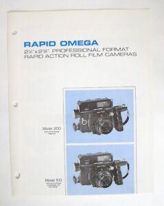 Rapid Omega Model 100, 200 Catalog with Dealer Price List: Original