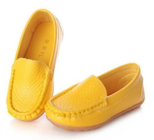 Boy Casual Walking Loafers Girl School Peas Toddles Moccasins Walking Shoes Size