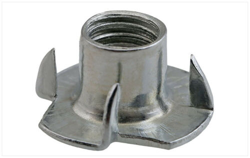 1//4 M4 M5 M6 M8 M10 Carbon Steel Zinc Plated 4 Prongs T Nut Tee Nuts Wood Insert