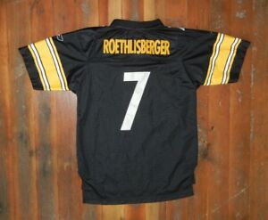 Image is loading PITTSBURGH-STEELERS-Football-7-BEN-ROETHLISBERGER-JERSEY -Kid- 79b7e0af8