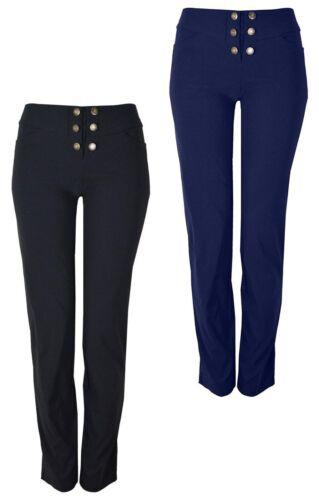 Ladies Stretch Fit Trouser Front Button Design Various Leg Lenghts KK27//28//29