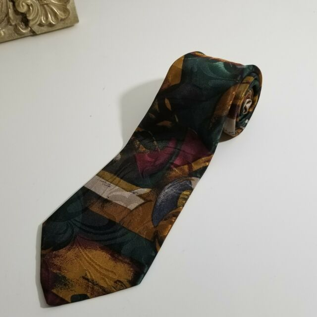 VTG 90's Floral Men's Tie Necktie Dress GQ $120