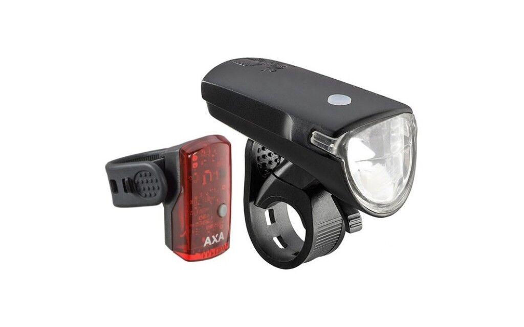 Beleuchtungsset bicicleta luz faros axa verdeLINE 35