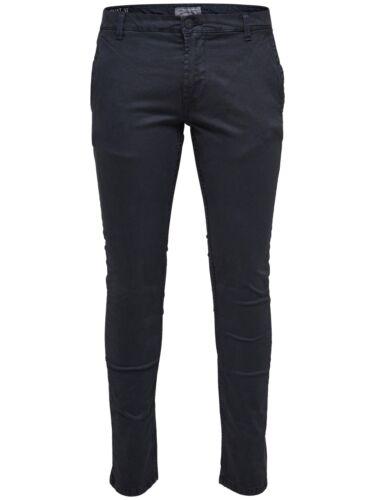 Men/'s Slim Fit Pantaloni solo /& SONS Stretch Beige Pantaloni Color Cachi