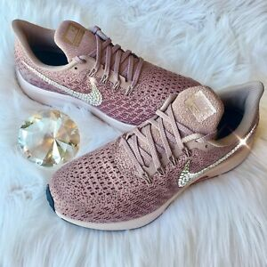 e85ffd98a6e72 Bling Nike Air Zoom Pegasus 35 Women s Shoes w  Swarovski Crystal ...