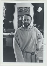 Vintage 70s b&w PHOTO Man In Monk's Robe