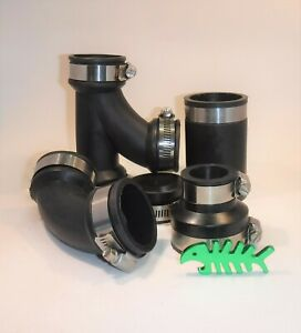 """Rubber Pipe Fittings Pond Connectors Straight 1/"""" 1.25/"""""""