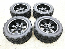 1/10 RC Monster Truck Tire Set Fit HSP RedCat Tamiya etc. PRE GLUED FREE SHIP!