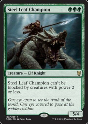 [1x] Steel Leaf Champion [x1] Dominaria Near Mint, English -BFG- MTG Magic