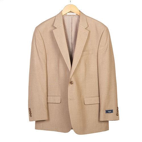 Chaps Classic-Fit Tan Solid Sport Coat - Men, Size  44 LONG Tan [MSRP]