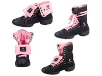 Black And Pink Split Sole Canvas Rumpf Dance Sneaker Two Star (1561)