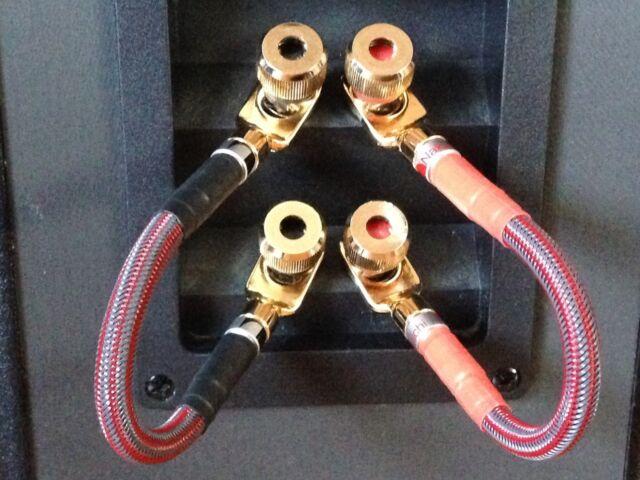set 4 mogami audiophile bi wire speaker jumper cables nakamichi rh ebay com bi-wire jumpers review audioquest bi-wire jumper cables