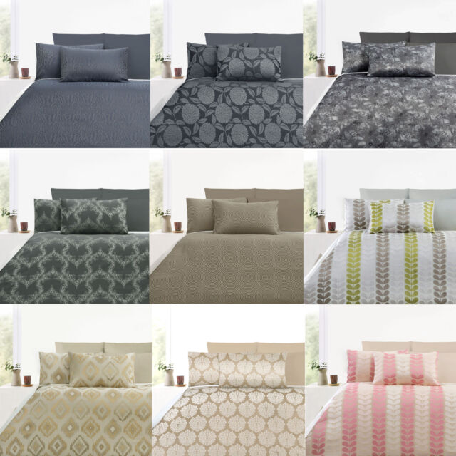 300 Thread Count Jacquard Quilt Doona Duvet Cover Set by Accessorize QUEEN KING