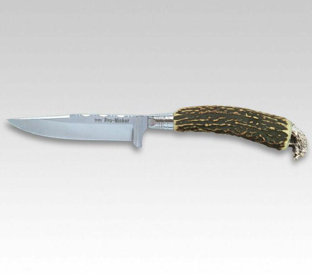 Trachtenmesser  rostfrei poliert Hirschhorn  Abschlussöse 5 cm NEU