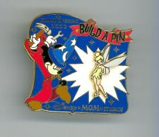 Disney MGM Studios Sorcerer Mickey Mouse & Tinker Bell Build-A LE Pin & Card