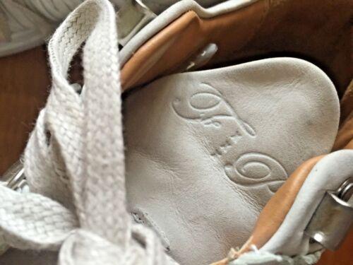découpé de Chaussures montagne froissé en 7 de taille remplissage blanc Baskets Pièces cuir nU08E