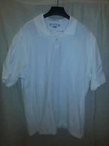 Geoffrey-Beene-Men-039-s-XL-Cream-Ribbed-Golf-S-S-Polo-Shirt