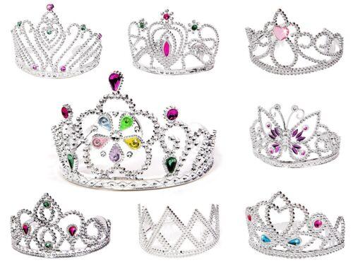Prinzessinenkrone Zauberstab Fee Mädchen Strass Diadem Tiara Silbern Prinzessin
