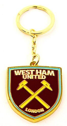 West Ham United FC New Crest large metal spg enamel Keyring