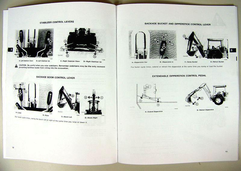 John Deere 310b Tractor Loader Backhoe Owners Operators Manual