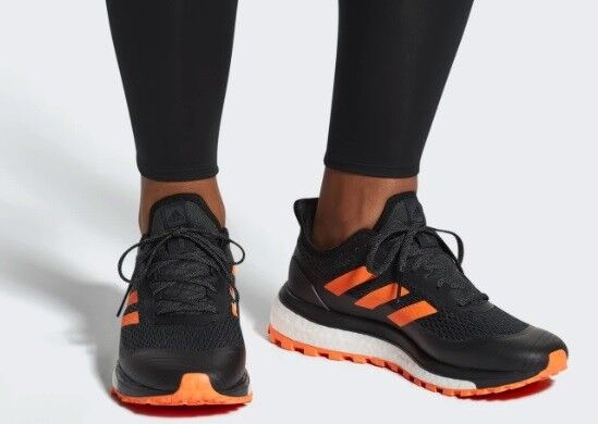 Para Hombre ADIDAS RESPONSE Trail Negro Naranja Atléticas Zapatos Deportivos para Caminar