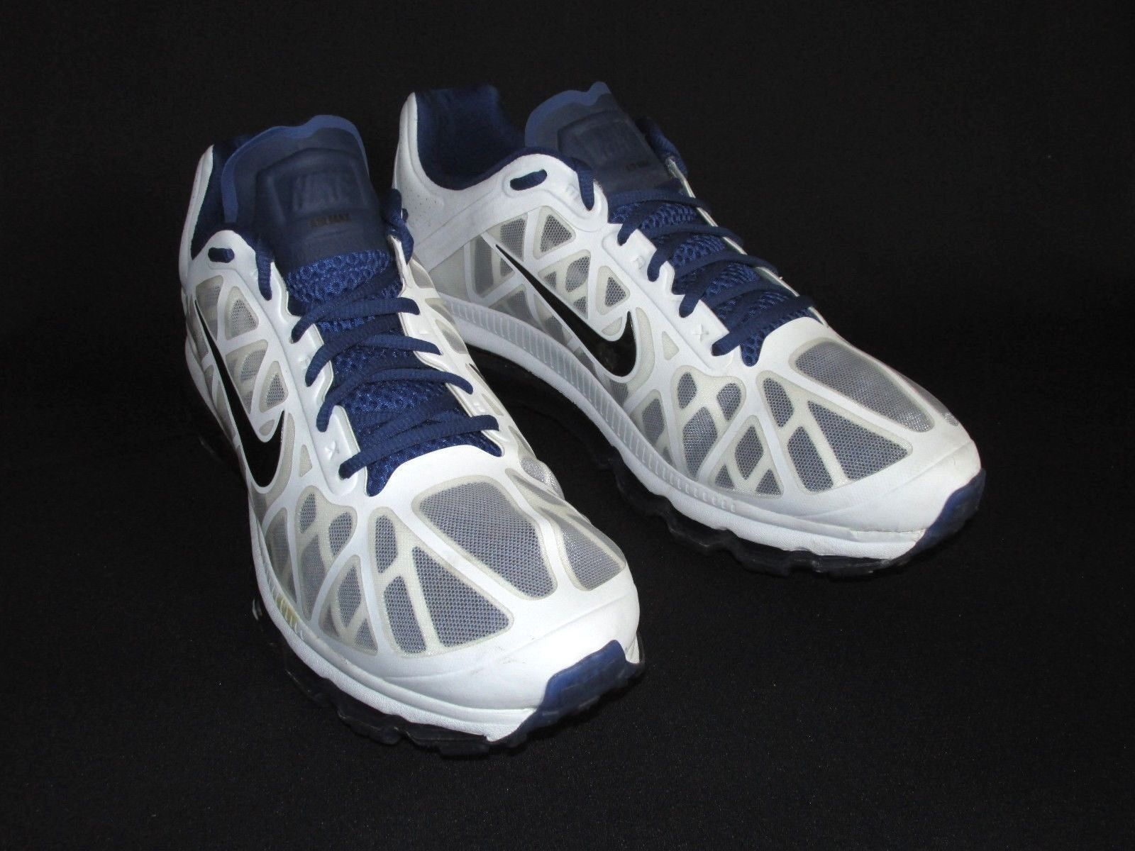 Nike Air  Max  2018 White Navy Blue Mens Running Shoes 429889-104 US 15  The latest discount shoes for men and women