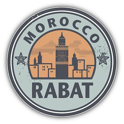 Rabat Morocco Grunge Vintage Travel Stamp Car Bumper Sticker Decal 3/'/' or 5/'/'