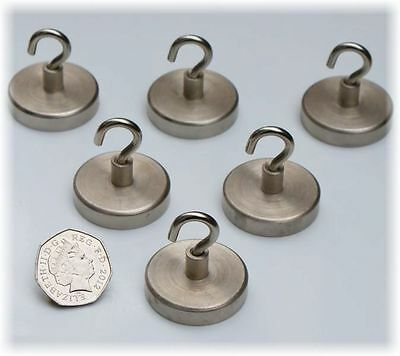 6 x  Magnetic HOOK 36 x 36.5mm, SUPPER STRONG Heavy Duty 52 kg Pull