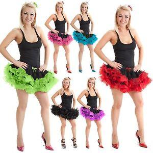 Röcke Damenmode Womens 2 Layer Tutu Ruffle Skirt Ladies Hen Night Girls Fancy Dress Party Dance Erfrischend Und Wohltuend FüR Die Augen