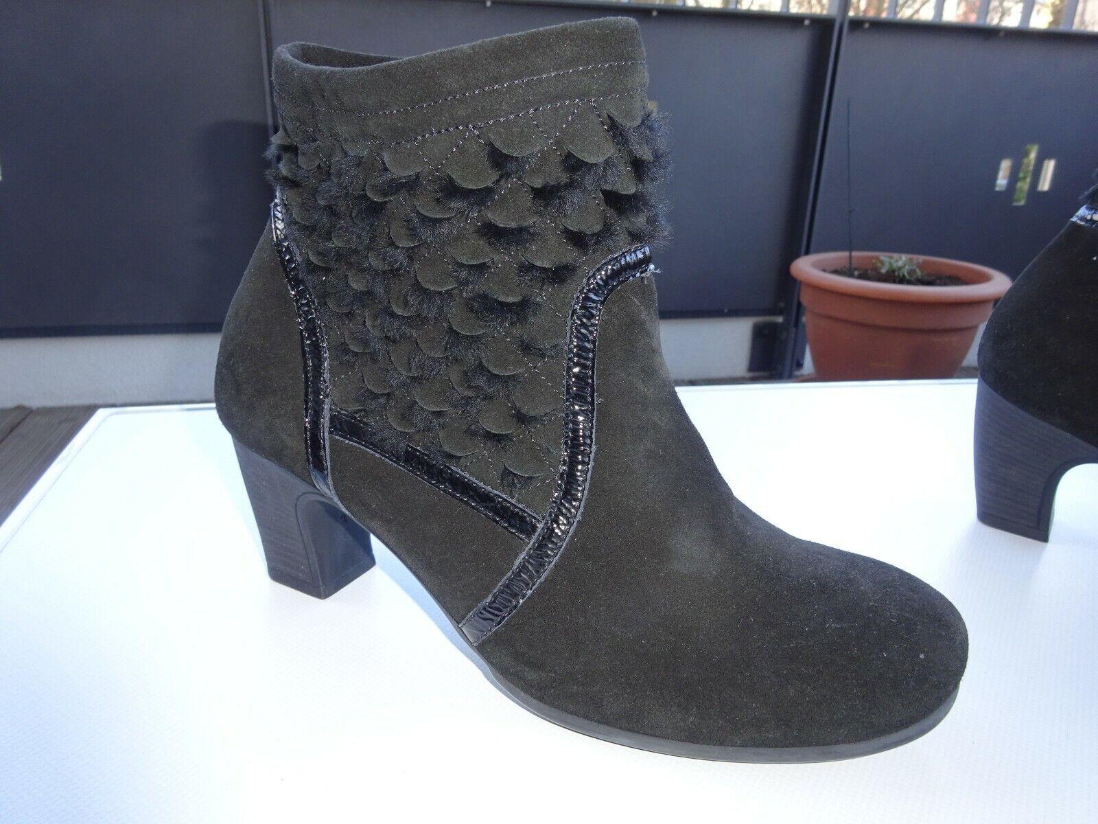 THINK Nei 81477 Schuhe Stiefeletten Wildleder Schwarz  Gr.39,5 Neuwertig