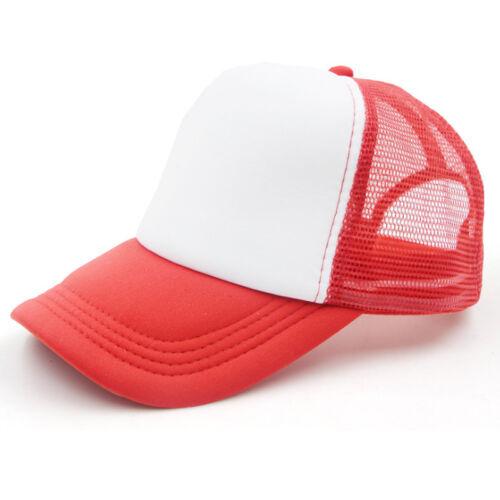 Women Men Plain Blank Curved Visor Hat Tennis Beach Baseball Cap Trucker Mesh