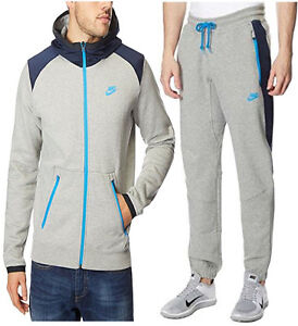 size 40 4b6ff 471ef Image is loading NIKE-MENS-JOGGING-SUIT-FLEECE-TRAINING-FASHION-FULL-