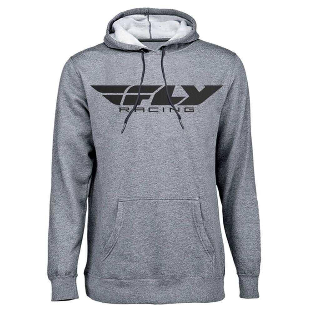 Fly Racing Corporate Pullover Hooded Sweatshirt Hoodie grau S M L XL XXL