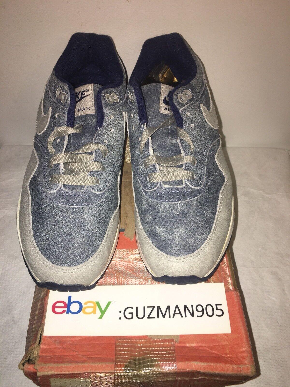2004 Nike Air Max 1 LTD Dirty Denim Tamaño 8.5 307779 401 Euro Patta Mesh 87