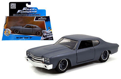 Contemporary Manufacture Toys & Hobbies 1/32 Jada Fast & Furious Movie Dom's Chevy Chevelle Ss Diecast Matt Grey 97379 To Invigorate Health Effectively