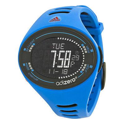Adidas Adizero Black Digital Dial Blue and Black Polyurethane Mens Watch ADP3511
