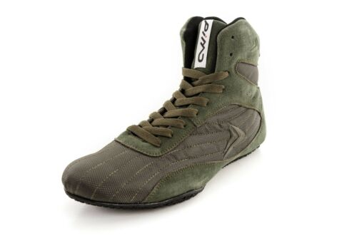 PIMD Khaki X-Core V2 Gym Shoes Weight Lifting High Top Boots Bodybuilding Boxing