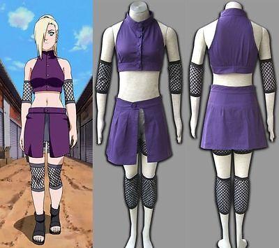NARUTO Shippuden Ino Yamanaka Anime Purple Cosplay Costume