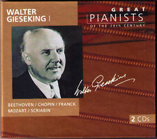 Walter GIESEKING 1: GREAT PIANISTS OF THE 20TH CENTURY 2CD Beethoven Mozart