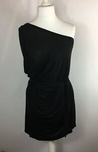 New-FIRETRAP-Size-8-10-Oversized-One-Shoulder-Wrap-Top-Grecian-Asymmetrical